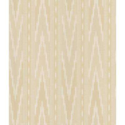 Cream Transitional Navajo Stripe Wallpaper Sample