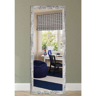 63.5 in. x 25.5 in. Weathered White Farmhouse Tall Mirror