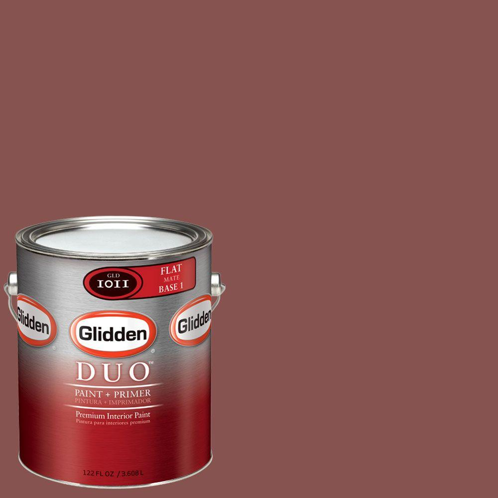 Glidden DUO Martha Stewart Living 1-gal. #MSL023-01F Ohio Buckeye Flat Interior Paint with Primer-DISCONTINUED