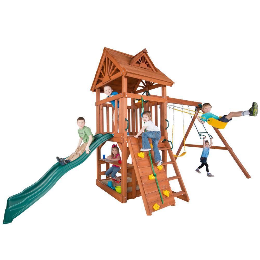 Swing-N-Slide Playsets Acrobat Wood Complete Playset
