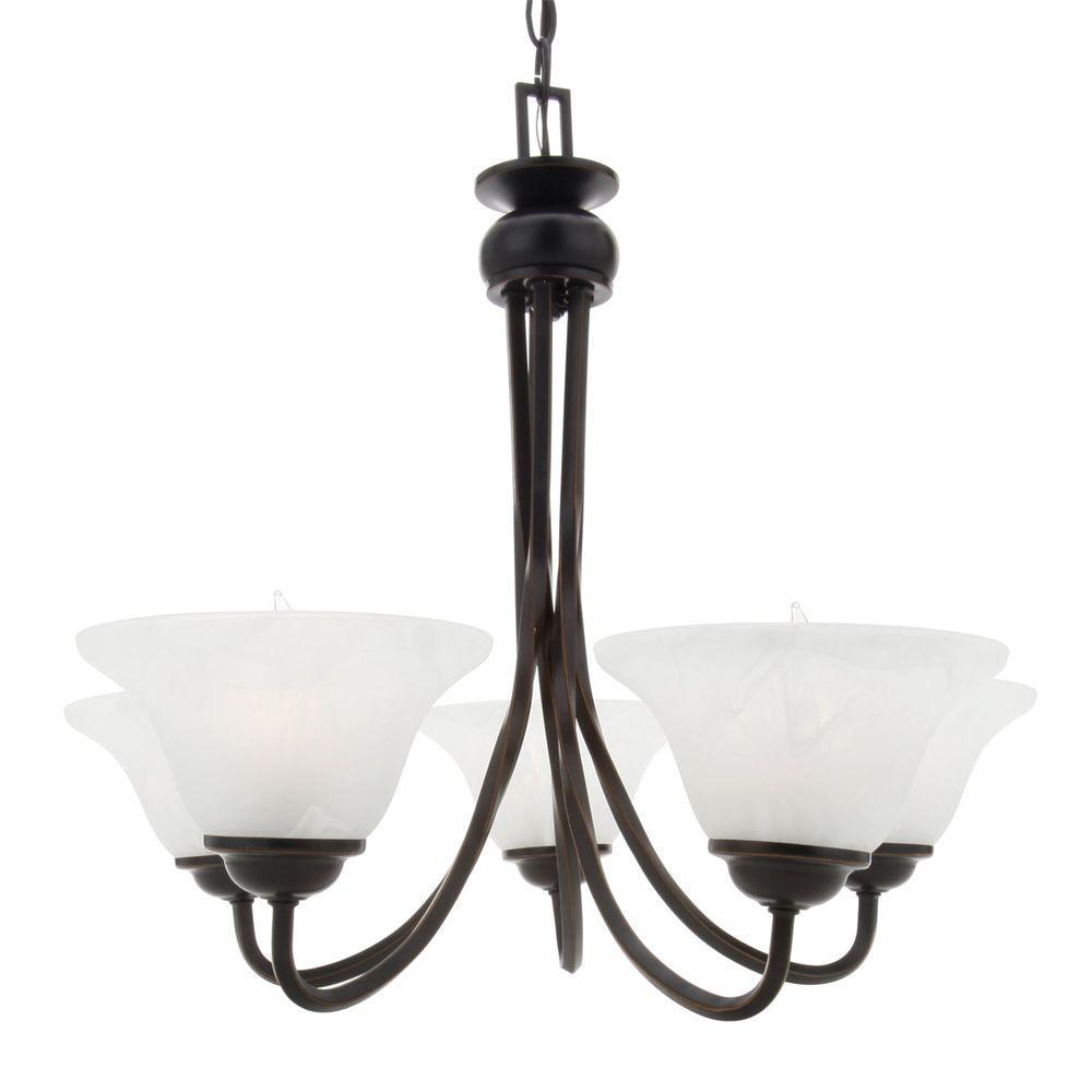 Design House Drake 5-Light Oil Rubbed Bronze Chandelier