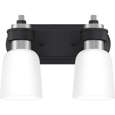 Conrad 2-Light Brushed Nickel Vanity Light