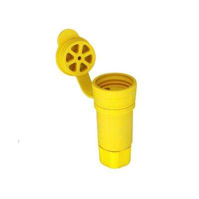 20 Amp 480-Volt Hart-Lock Watertight Connector, Yellow