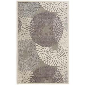 Nourison Graphic Illusions Grey 2 ft. 3 inch x 3 ft. 9 inch Accent Rug by Nourison