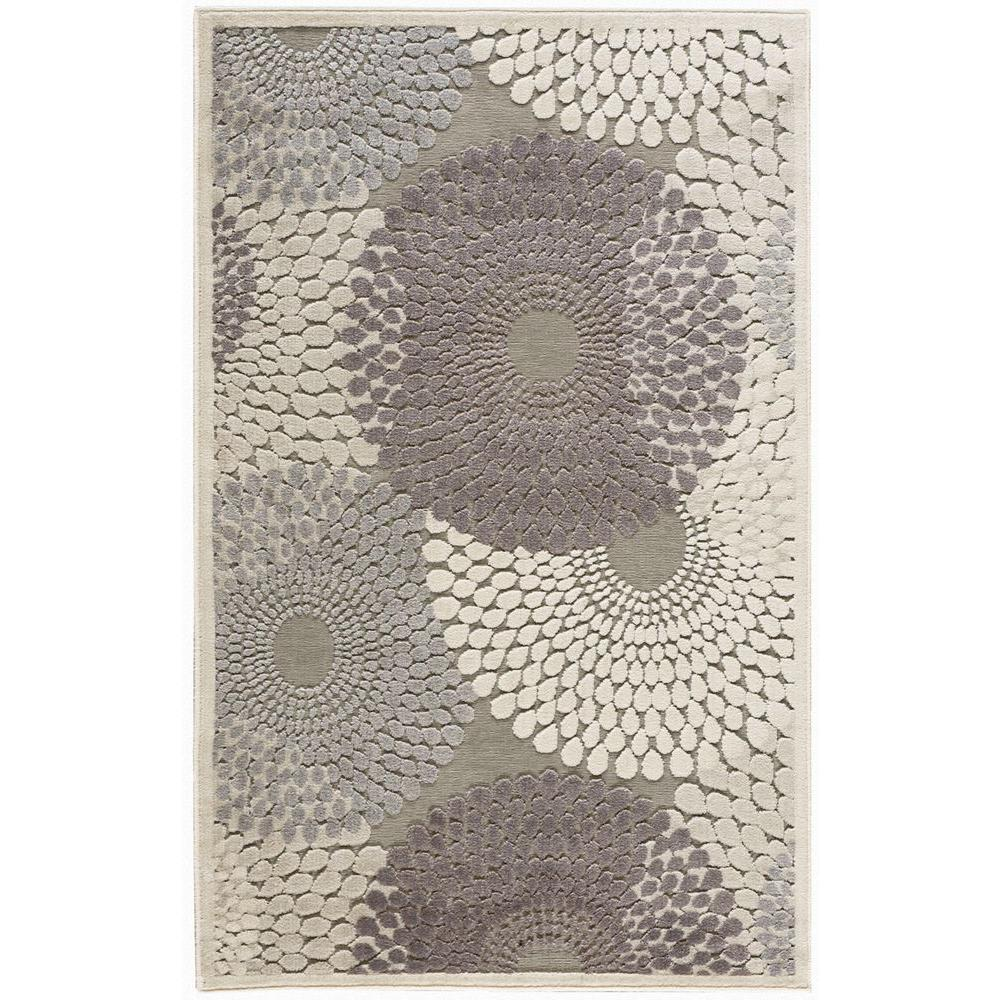 Nourison Graphic Illusions Grey 4 ft. x 6 ft. Area Rug