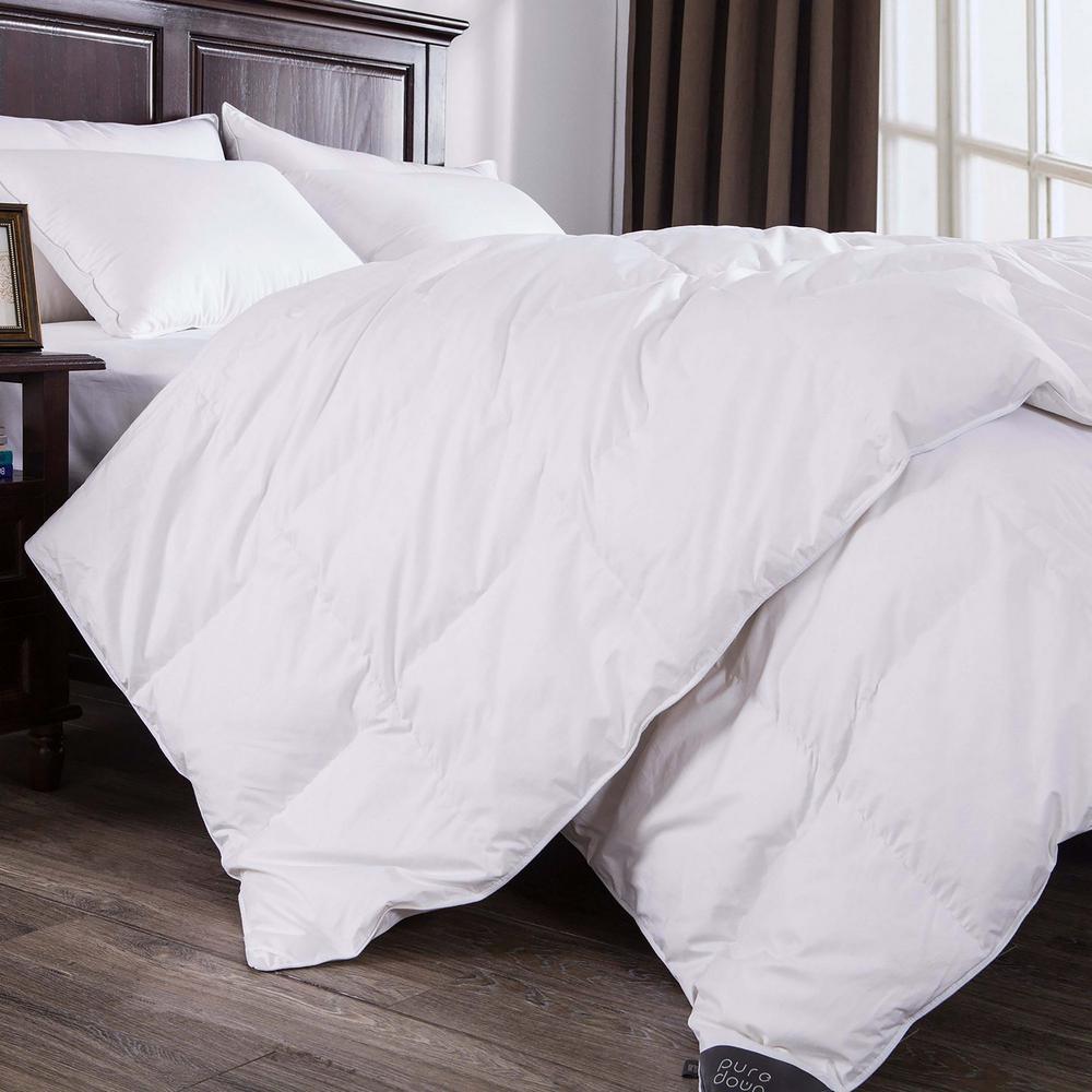 All Season Year Round Warmth White Full Down Comforter