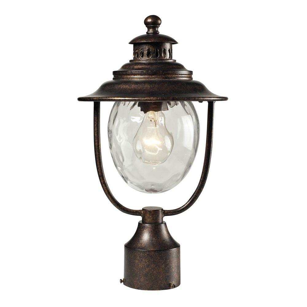 titan lighting searsport 1 light outdoor regal bronze post. Black Bedroom Furniture Sets. Home Design Ideas