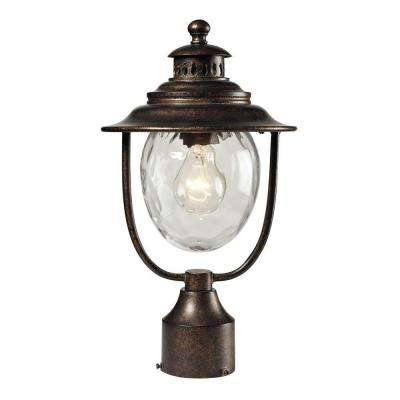 Searsport 1-Light Outdoor Regal Bronze Post Light