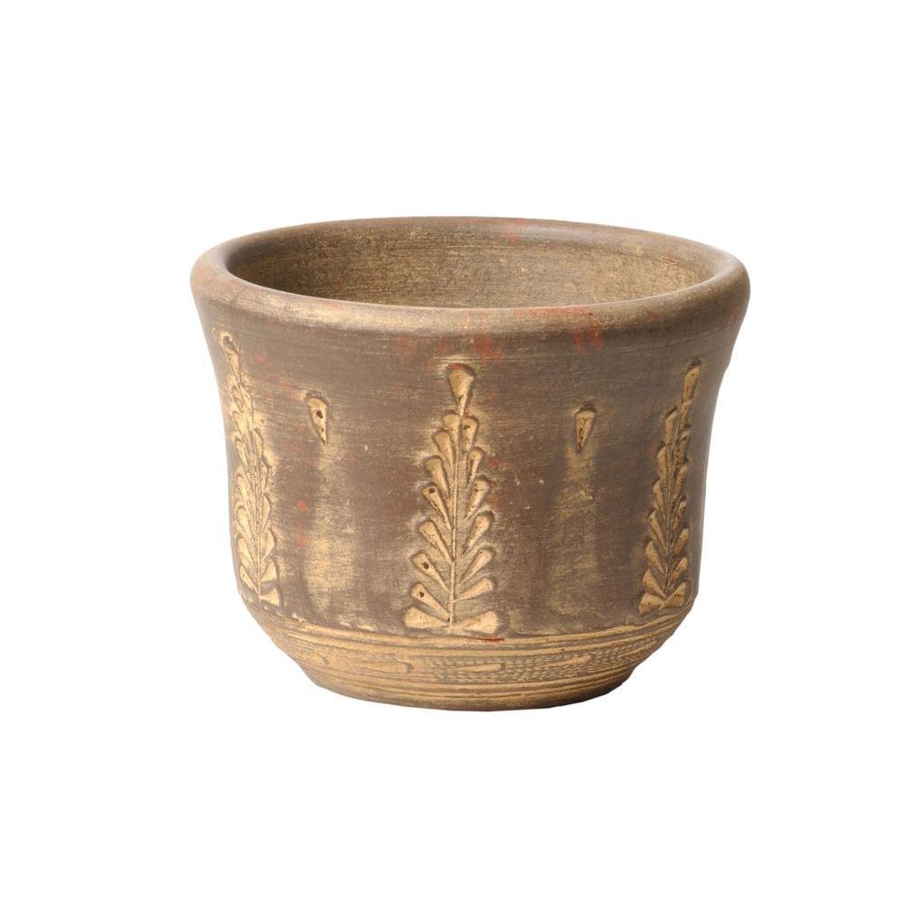 14 in. Clay Tulip Pot