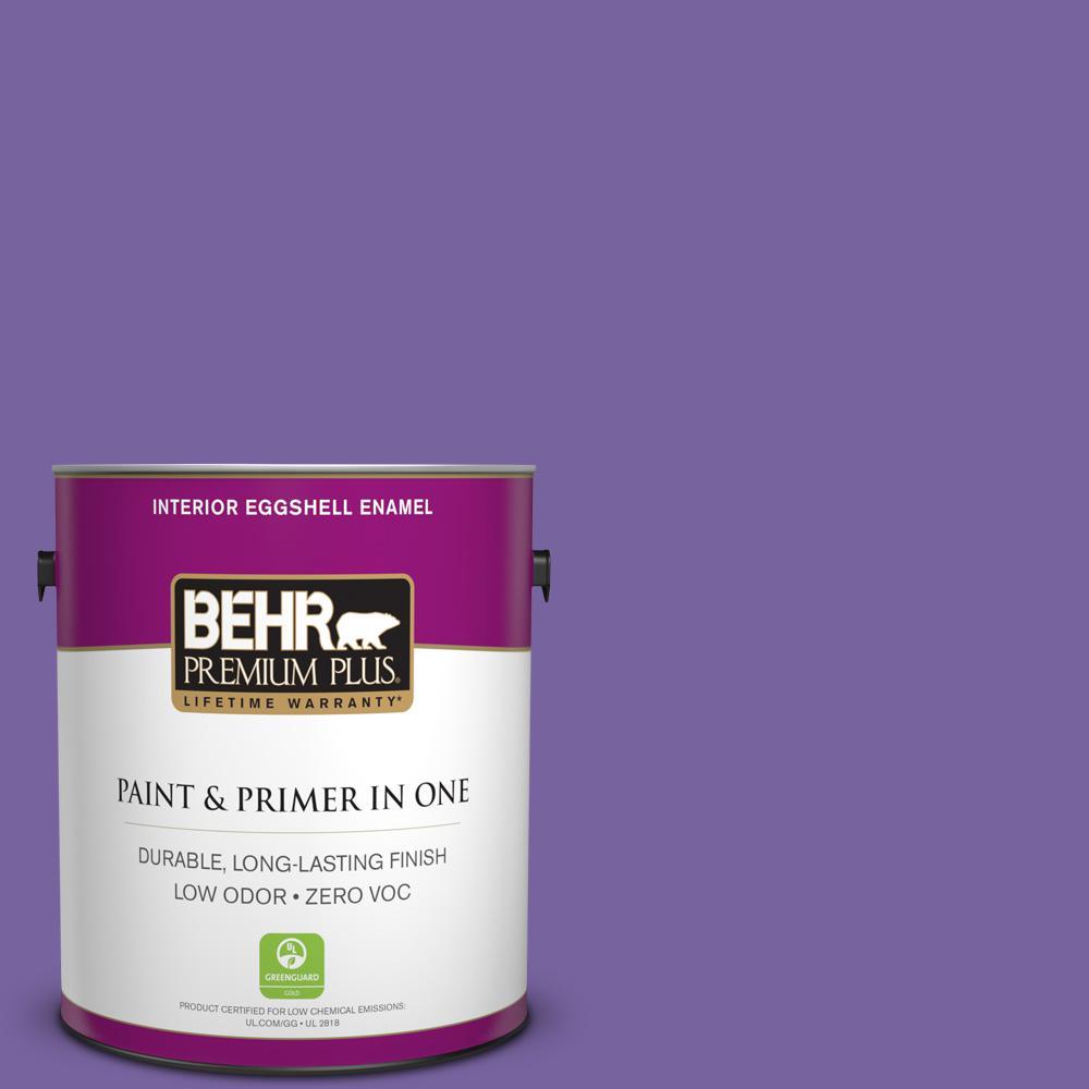 1 gal. #PPU16-03 Purple Paradise Zero VOC Eggshell Enamel Interior Paint