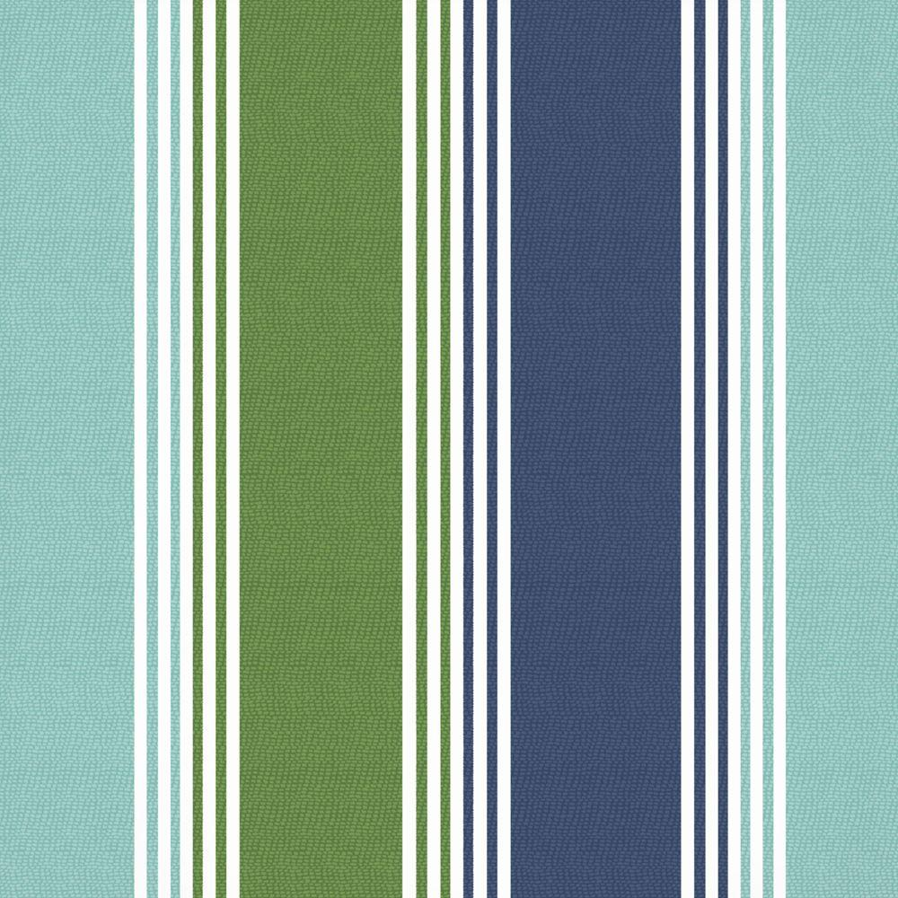 Arden Dawson Stripe Marine Patio Fabric By The Yard-DISCONTINUED