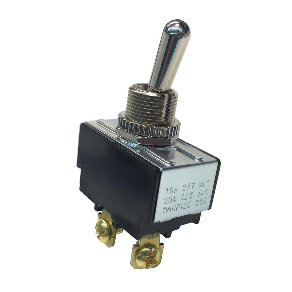 Heavy Duty Toggle Switch SPST 2HP 125-277V 20/15A 125/277V (Case of 5)