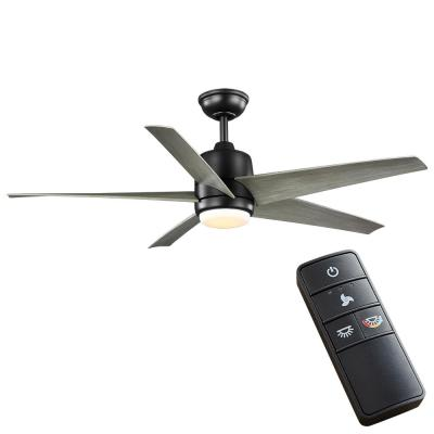 Mara 54 in. White Color Changing Integrated LED Indoor/Outdoor Black Ceiling Fan with Light and Remote Control
