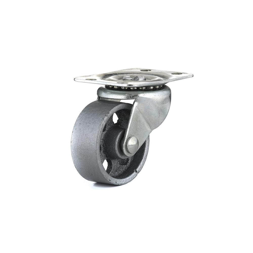1-31/32 in. Metal Swivel Without Brake plate Caster, 125.7 lb. Load