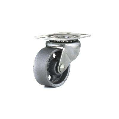 1-31/32 in. Metal Swivel Without Brake plate Caster, 125.7 lb. Load Rating