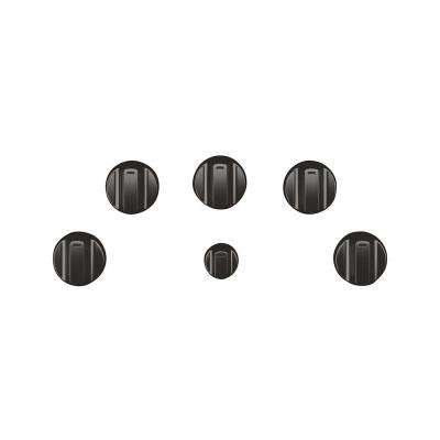 Electric Cooktop Knob Kit in Brushed Black