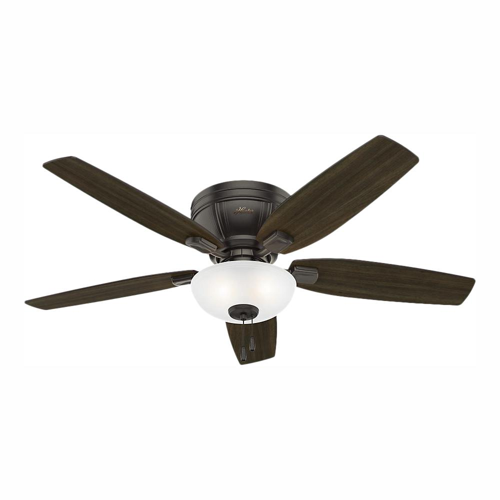 Hunter Kenbridge 52 in. LED Low Profile Indoor Noble Bronze Ceiling Fan