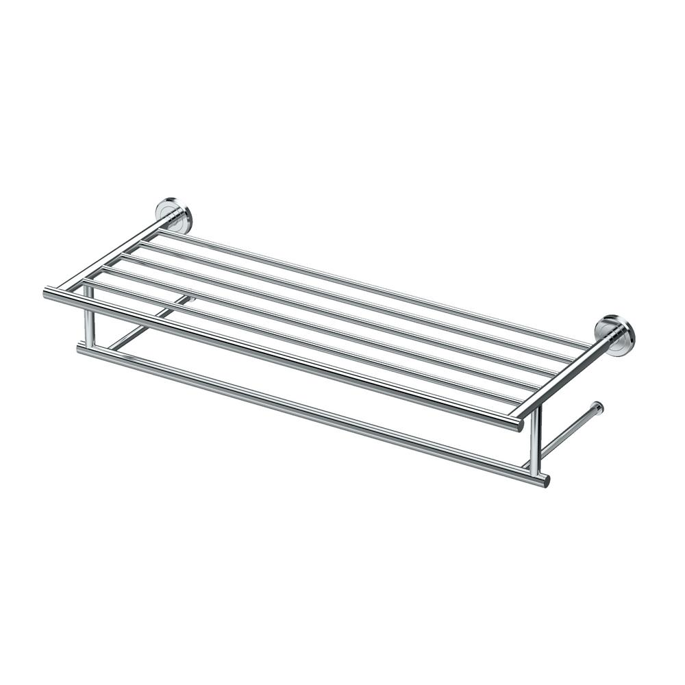 Latitude II 24 in. Towel Rack in Chrome