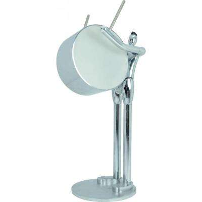 Praise to Max 14.57 in. Artistic Silver LED Desk/Table Lamp