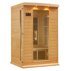 Better Life 2-Person Carbon Infrared Sauna with Chromotherapy Lighting and Radio by Better Life
