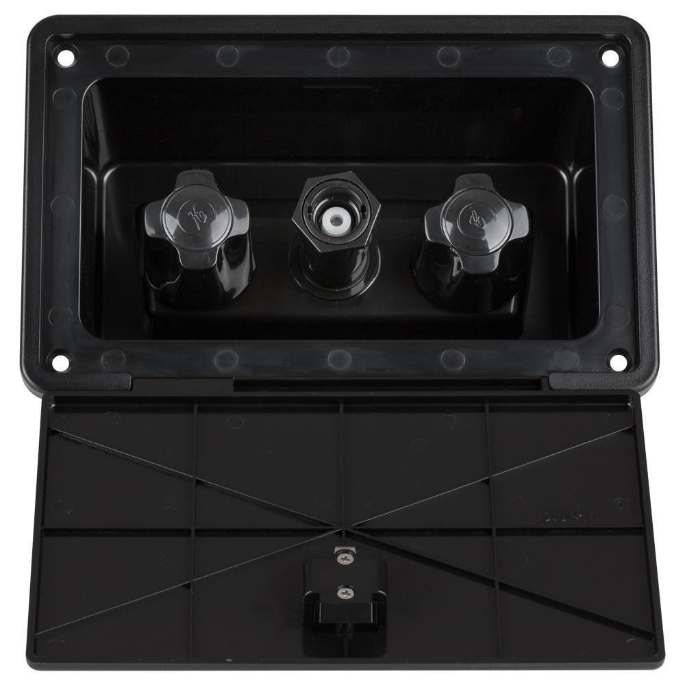 2-Handle RV Exterior Spray Box in Black