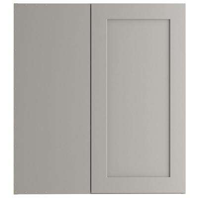 Cambridge Assembled 27.01x30x12.5 in. Blind Wall Corner Cabinet in Gray
