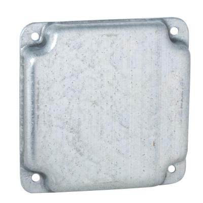 4 in. Square Exposed Work Cover, Blank (10-Pack)