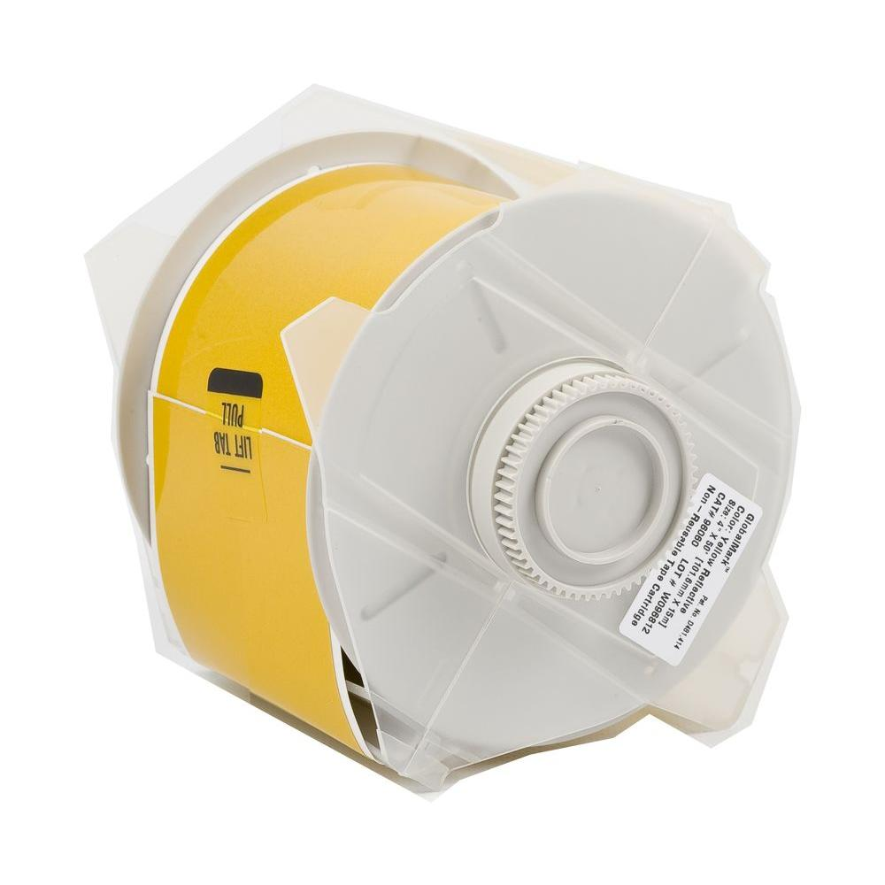 Brady B569 2.25 in. x 100 ft. Polyester Yellow Tape