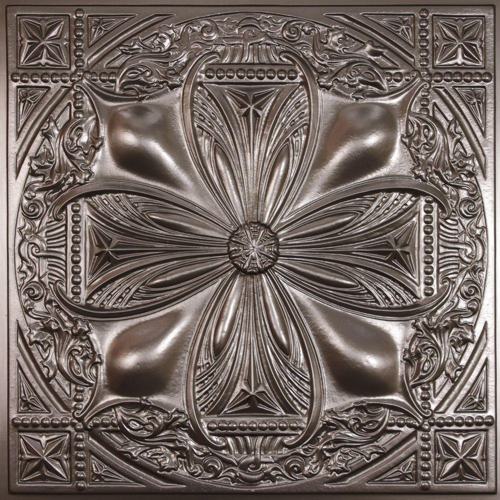 Ceilume Avalon Faux Tin Evaluation Sample, Not suitable for installation - 2 ft. x 2 ft. Lay-in or Glue-up Ceiling Panel