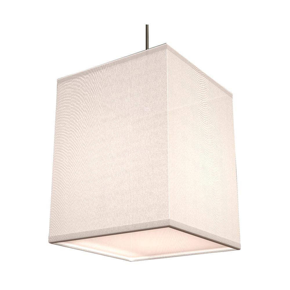 Baker 1-Light White Shade Hanging Pendant