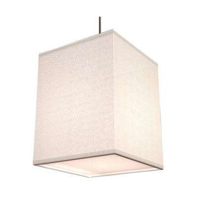 Baker 1-Light White Shade Hanging Pendant