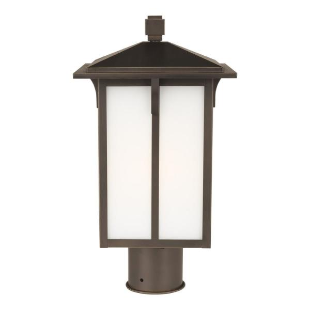 Tomek 1-Light Antique Bronze Outdoor Post Lantern