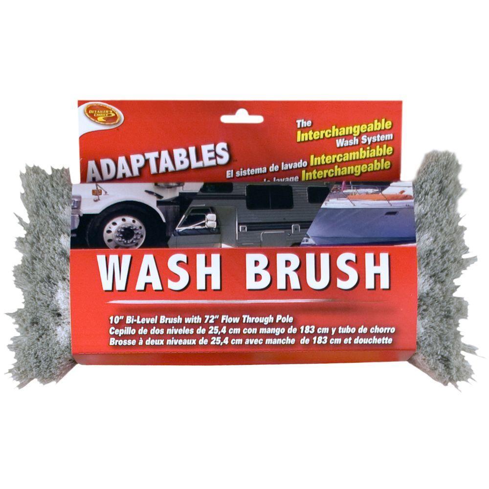Adaptables 10 in. Bi-Level Wash Brush Head