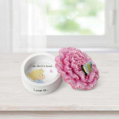 Tabletop Carnation Resin Trinket Box Love Is An Aunt's Smile