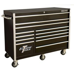 Click here to buy Extreme Tools THD Series 55 inch 12-Drawer Roller Cabinet Tool Chest in Black by Extreme Tools.