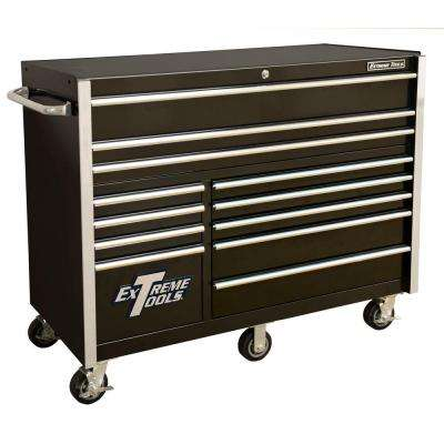 THD Series 55 in.12-Drawer Roller Cabinet Tool Chest in Black