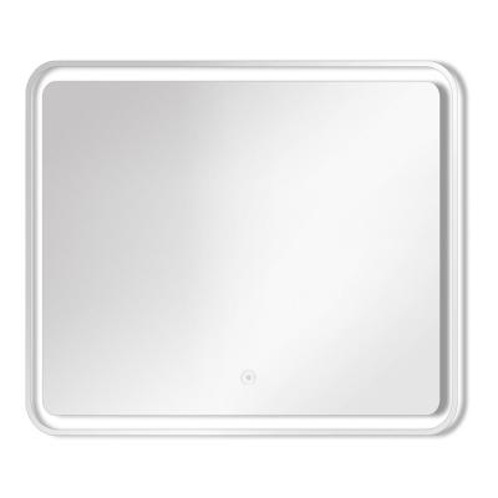 Gabriel 29.53 in. W x 27.56 in. H Frameless Square LED Light Bathroom Vanity Mirror in Silver