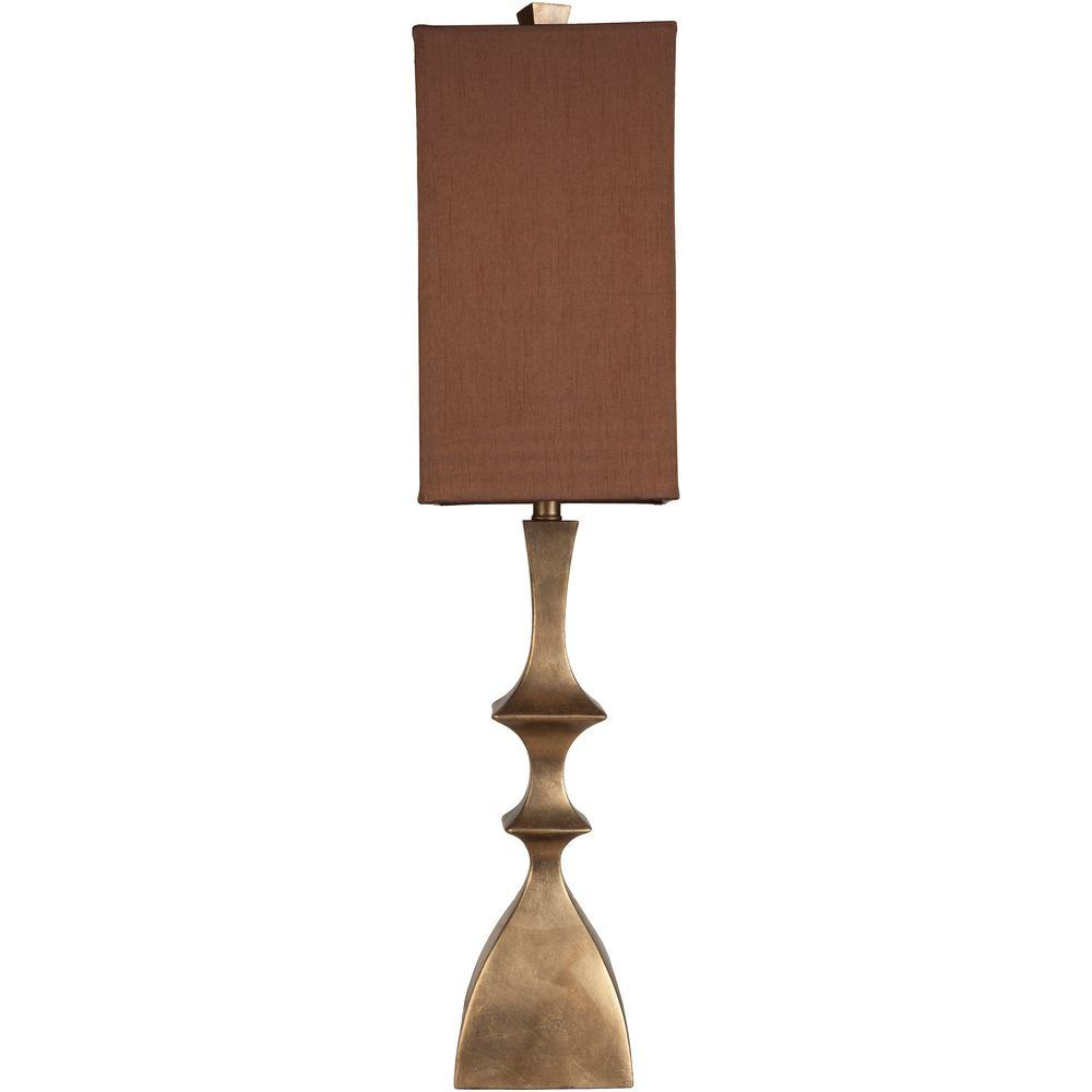 Square - Gold - Table Lamps - Lamps - The Home Depot for Square Wood Lamp Shade  146hul
