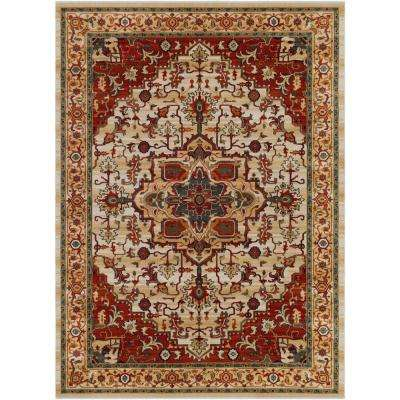 Gatlas Dark Red 8 ft. x 11 ft. Area Rug