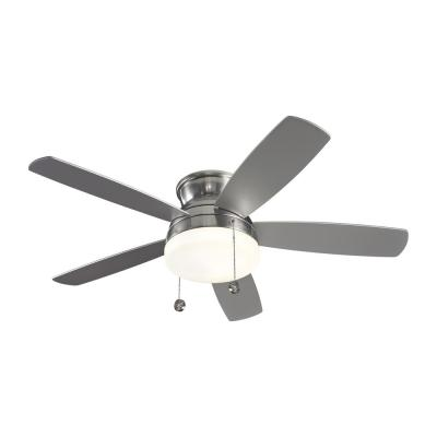Traverse 52 in. Indoor Brushed Steel Ceiling Fan with Light Kit