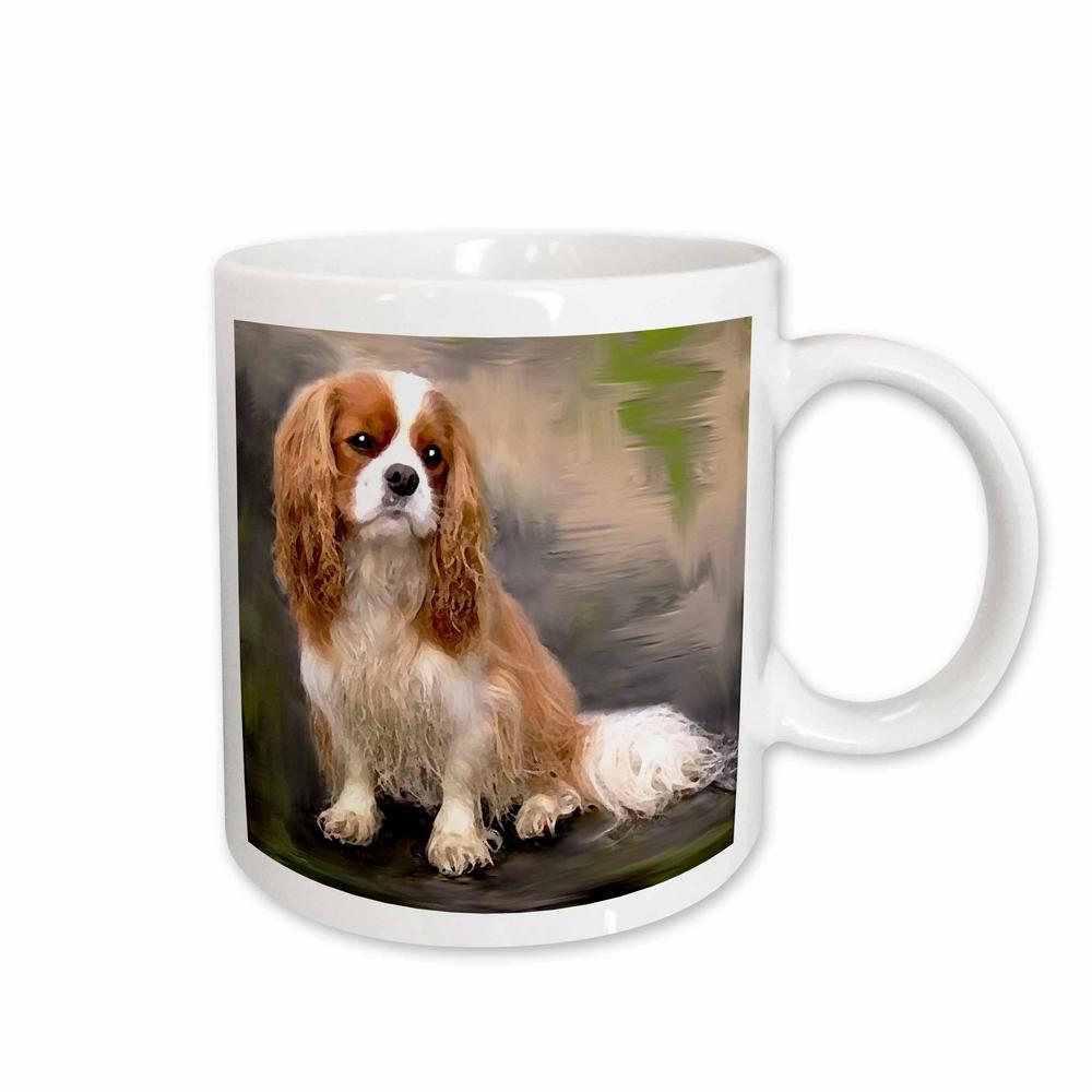 King Charles Spaniel 11 oz. White Ceramic Dogs Cavalier Mug