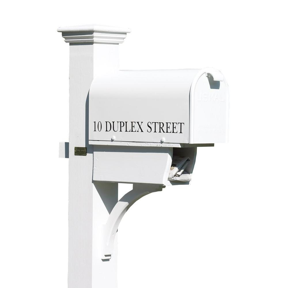 Good Directions Lazy Hill Farm 84 In. Cedar Duplex Mailbox Post,  White 999196   The Home Depot
