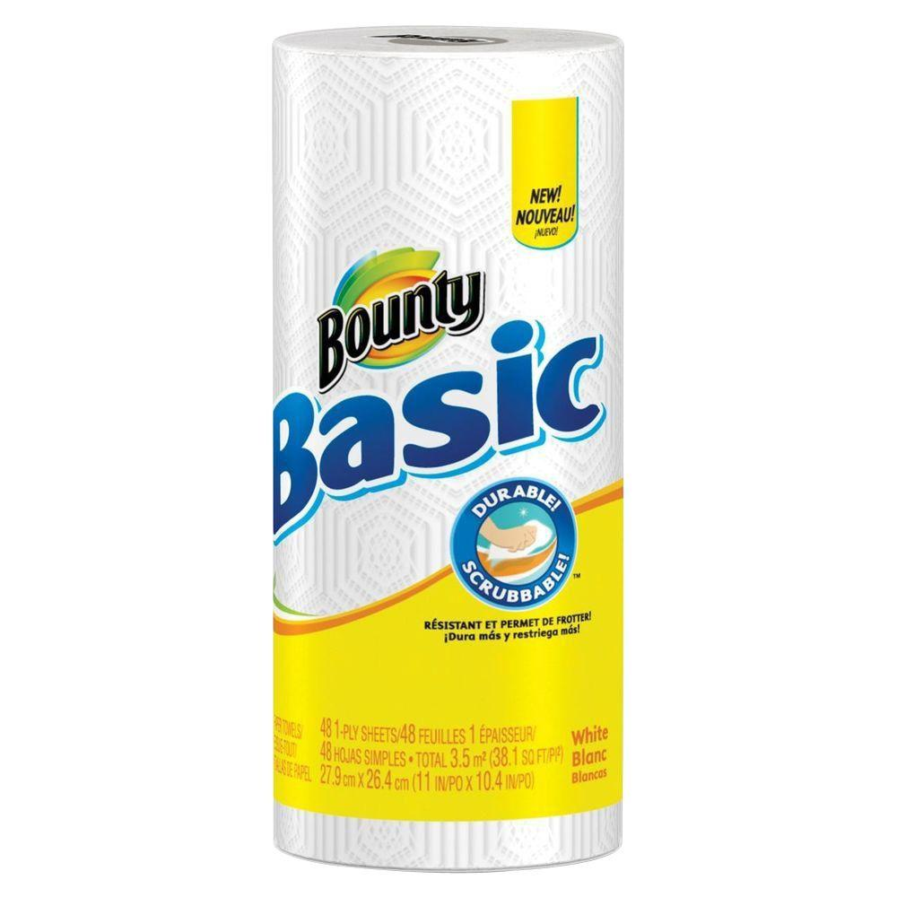 Bounty 11 in. x 10.40 in. Paper Towels 1-Ply (48 Sheets Per Roll)