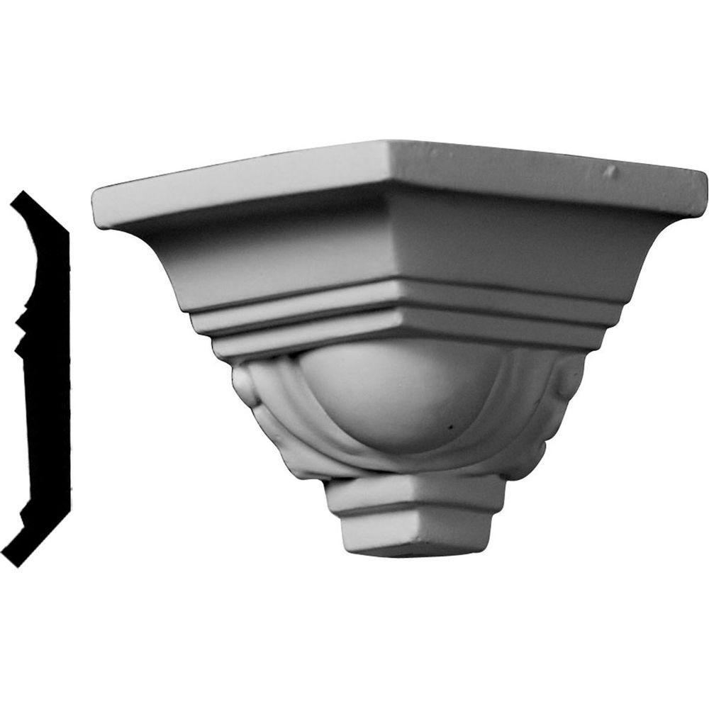 2-1/8 in. x 2-1/8 in. x 2-1/8 in. Polyurethane Crown Outside Corner Moulding