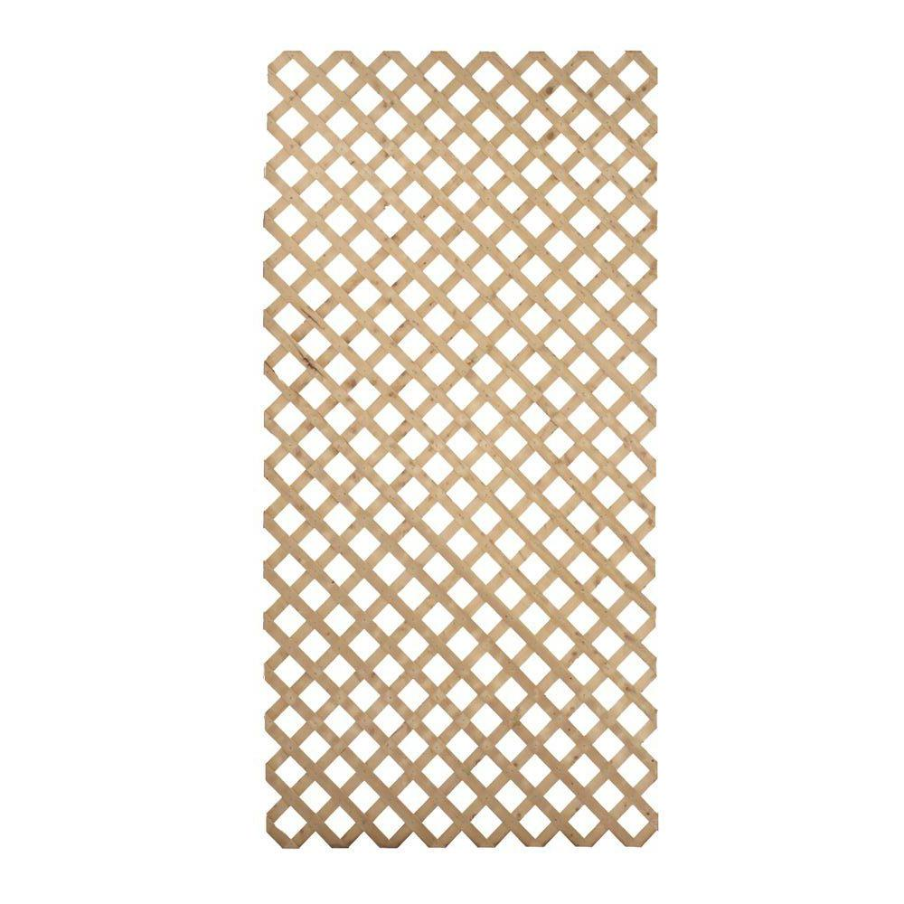 4 Ft X 8 Ft Pressure Treated Garden Wood Lattice 127738 The Home Depot