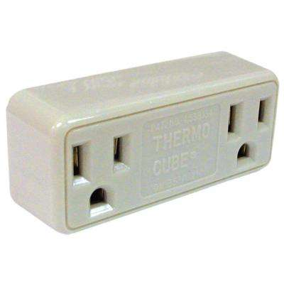 Freezebuster FB3/TC3 Thermocube Ivory In-Line Limiting Plug-In Freeze Protection Thermostat