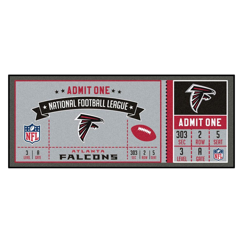 NFL - Atlanta Falcons 30 in. x 72 in. Indoor Ticket Runner Rug