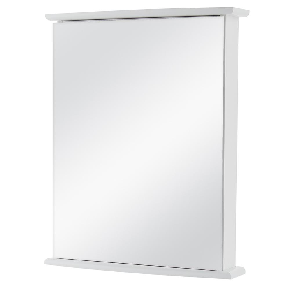 Home Decorators Collection 22 In W X 27 5 8 In H Fog Free Frameless Surface Mount Bathroom Medicine Cabinet In White 45435 The Home Depot