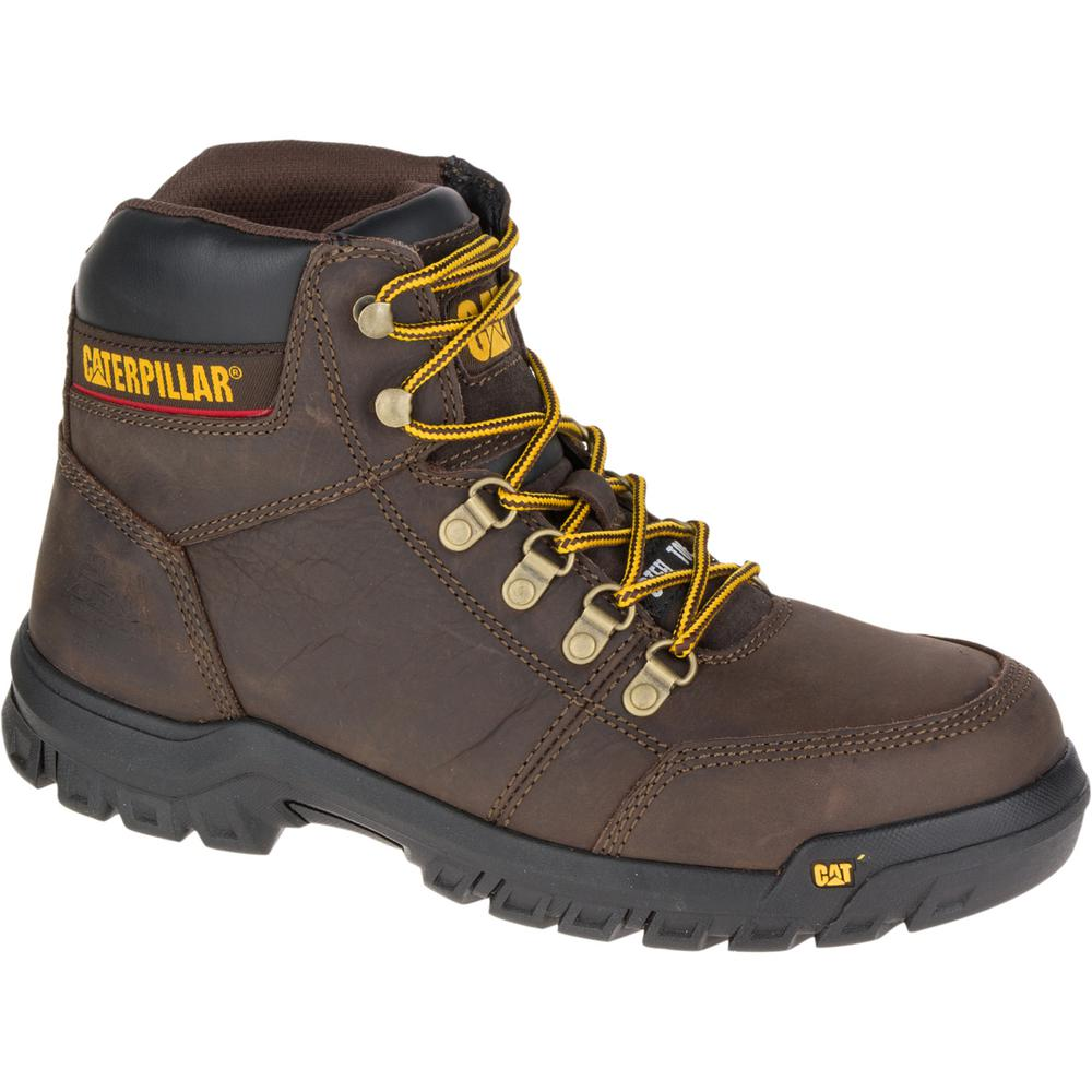 3ff09fc0395 Outline Men's Size 9W Seal Brown Steel Toe Work Boot