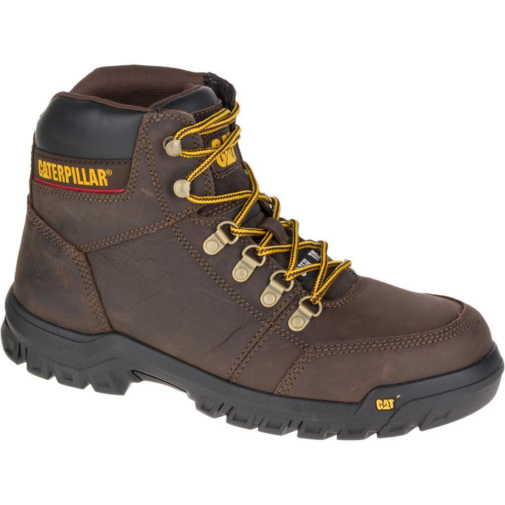 Outline Men's Size 8-1/2M Seal Brown Steel Toe Work Boot